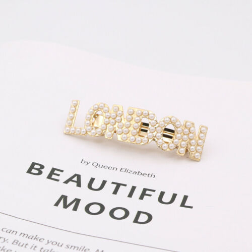 Women Pearls Hair Clips Hairpin New York Tokyo Paris London Hair Accessories