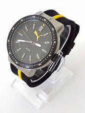 Puma Herren Uhr schwarz gelb weiß Silikon PU104131002