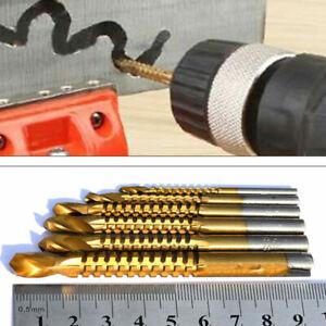 3-8-mm-6PCS-HSS-Forets-Set-voler-EBENISTERIE-Bois-Metal-Decoupe-Trou-Outil-Nouveau