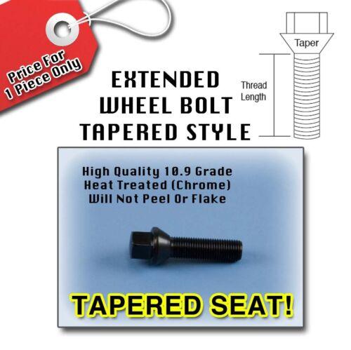 Black Tapered Longer Extended Wheel Bolts LugsBMW14x1.540MM Thread