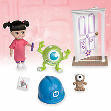 Disney Monsters Inc Boo MINI Animator bambola Playset con Custodia Portatile Mike Wazowski