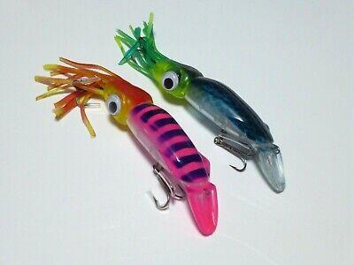 1//4x Shrimp Prawn LED Baits Squid Fishing Lures Jigs Hook Bait Tackle Lures