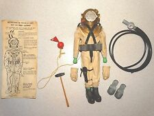 Hasbro VINTAGE Complete 1965 GI Joe DEEP SEA DIVER w/INSTRUCTIONS & Mannequin!