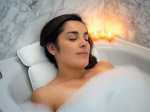 Mesh-Spa-Bath-Pillow-with-7-Suction-Cups-Neck-amp-Back-Support-Home-Hot-Tub-New