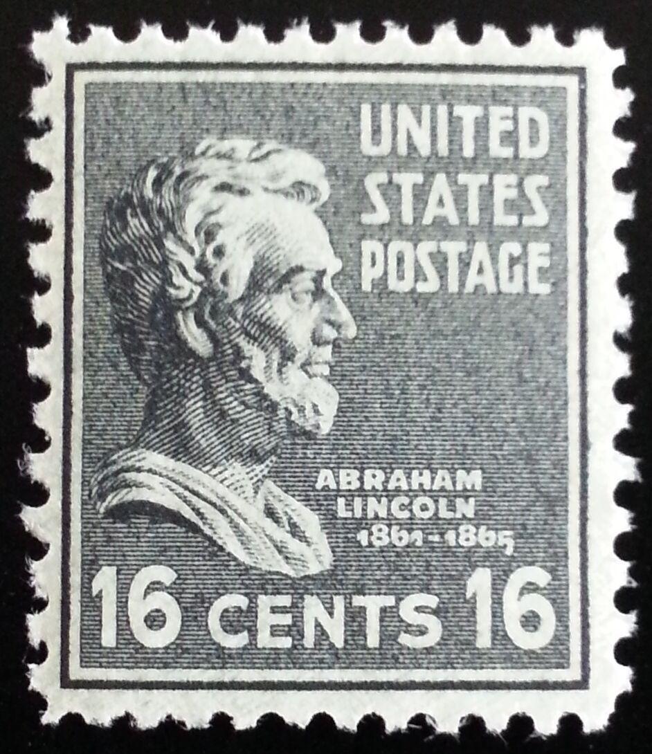 1938 16c Abraham Lincoln, Gettysburg Address Scott 821
