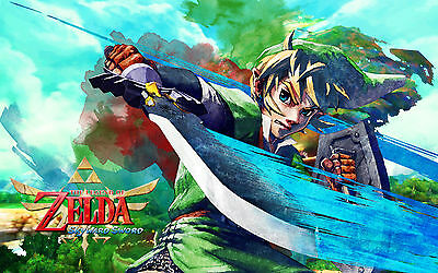 Zelda / Link - Awesome -  Huge Poster 34in x 22in - Shipped in Tube 02