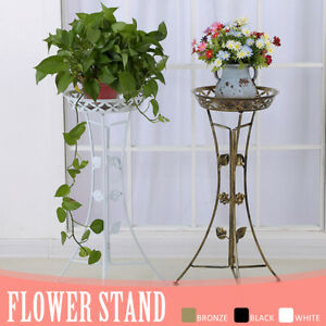 Plant-Stand-Metal-Decor-Flower-Pot-Shelf-Garden-Outdoor-Indoor-Wedding-Rack