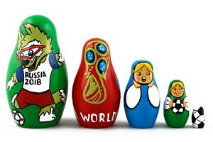 529bf8c804a8 Soccer World Cup 2018 Russian Stacking Nesting Dolls Matryoshka set ...