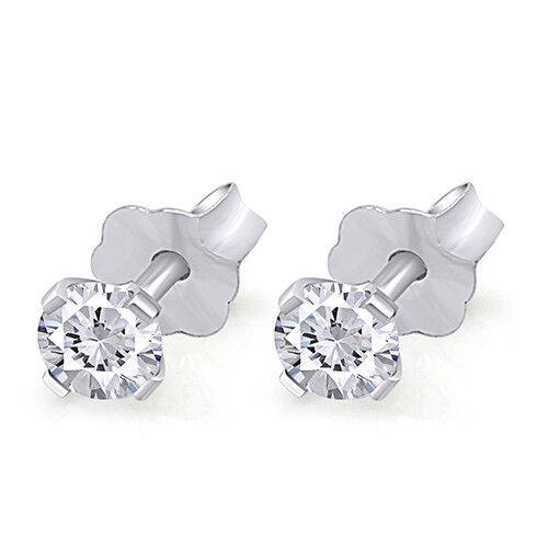 3//4 Cttw Natural Diamond Stud Earrings Available In 14K White And Yellow Gold