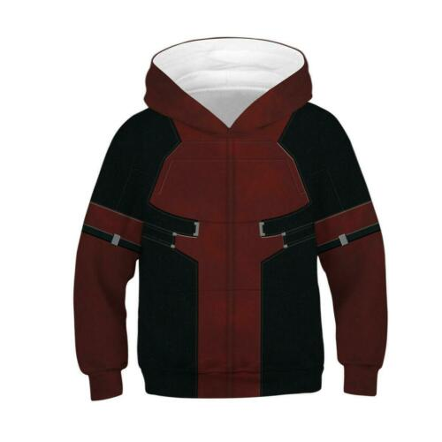 Kids Boys Girls Galaxy Wolf Unicorn 3D Hoodies Sweatshirt Jumper Pullover Tops