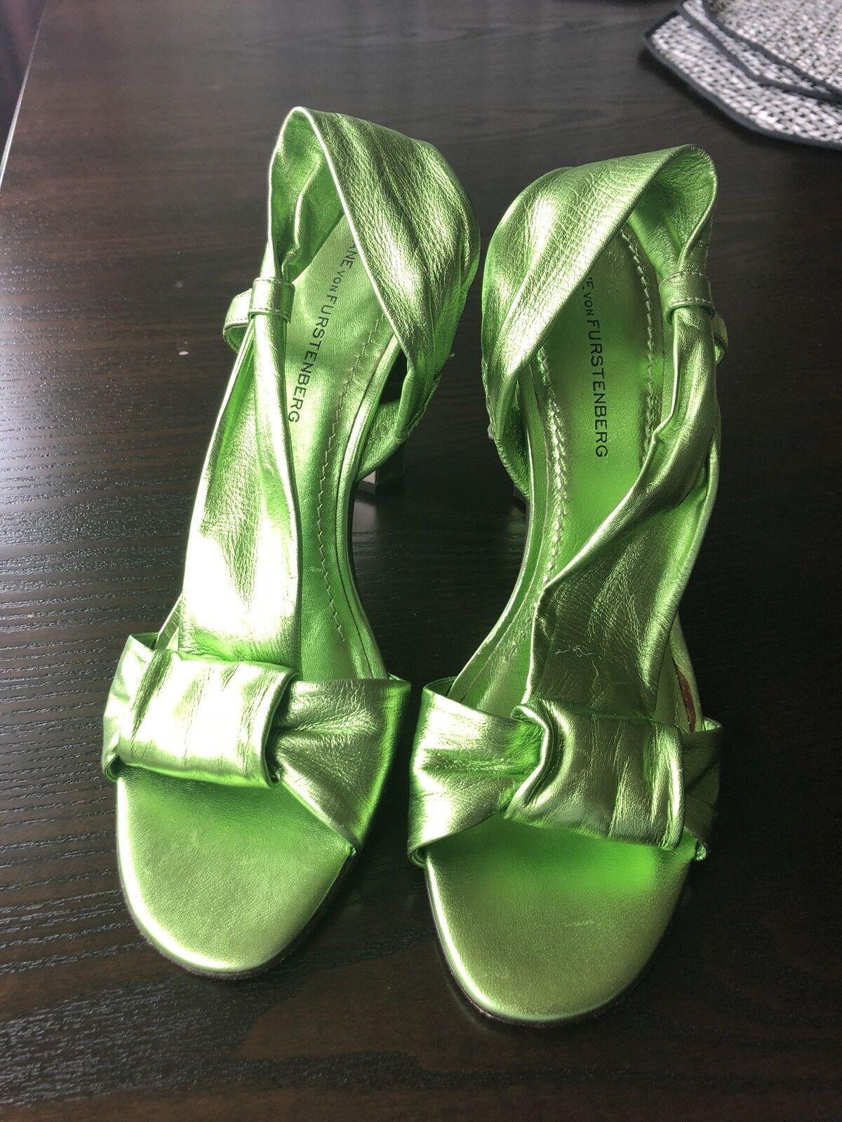 Auth Diane Von Furstenberg Schuhes Green Größe 8