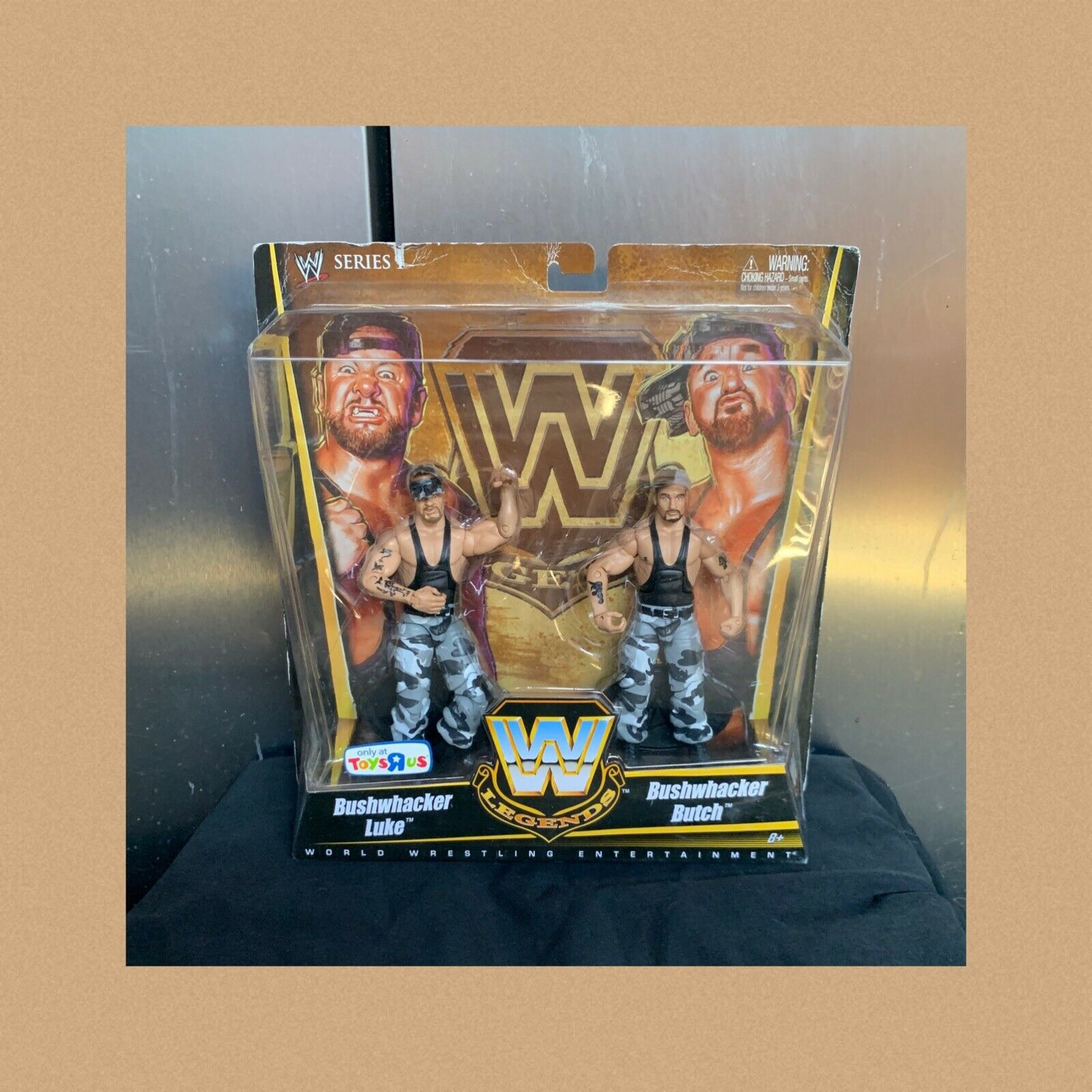 WWE Elite Legends The Bushwackers Figures Toys'R Us Exclusive New In Box