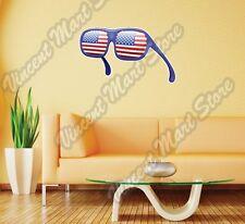 "USA United States Flag Sunglasses Wall Sticker Room Interior Decor 25""X18"""