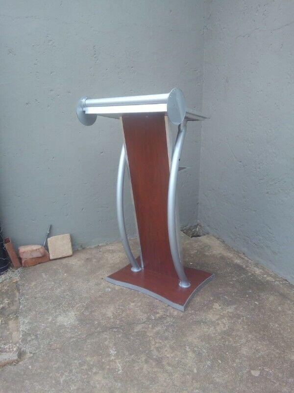 Custom Steel And Wood Podium