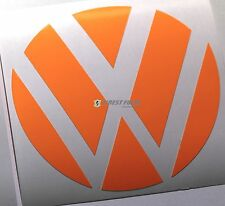 Emblem Ecken Neon Orange hinten VW Golf 6 VI GTI GTD R Turbo Logo Heck Folie