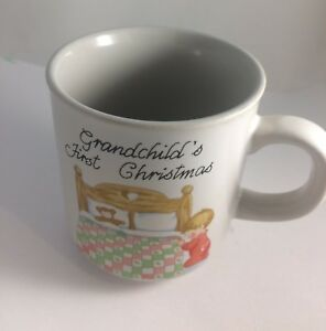 Grandchild-039-s-First-Christmas-Child-039-s-Coffee-Cup-Mug-2-5-034-Wide-amp-Tall