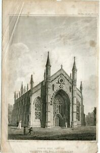 North-West-View-Trinity-Chapel-Bordesley-Engraved-By-W-Radcliffe