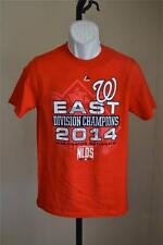 NEW MINOR FLAW - MLB WASHINGTON NATIONALS 2014 EAST youth LARGE L  Shirt 55PD