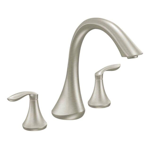 Moen Eva T943bn Brushed Nickel Two Handle High Arc Roman Tub Faucet