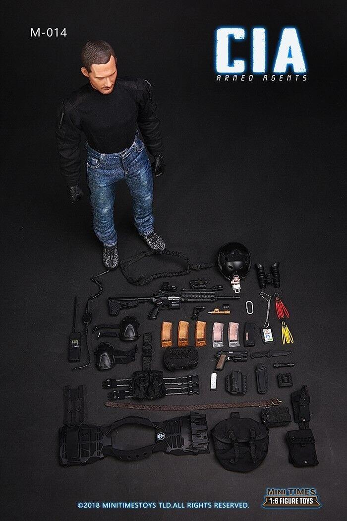 Mini fois Toys M014 échelle 1 6th CIA mâle détective Figure Collectible