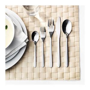 20 Piece Set Ikea Stainless Steel Flatware Spoon Fork