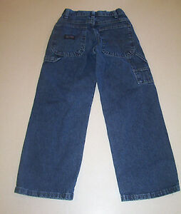 b7fa0720 Boy's Wrangler WRG Carpenter Blue Denim Cotton Jeans 10 Slim | eBay