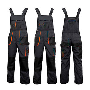 UK-Bib-and-Brace-Overalls-Heavy-Duty-Work-Trousers-Dungarees-Knee-Pad-Pockets