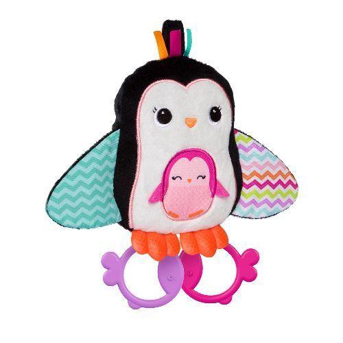 Bright Starts - Teethe & Squeak Penguins - Greifling Pinguin m. Beiß- , Struktur