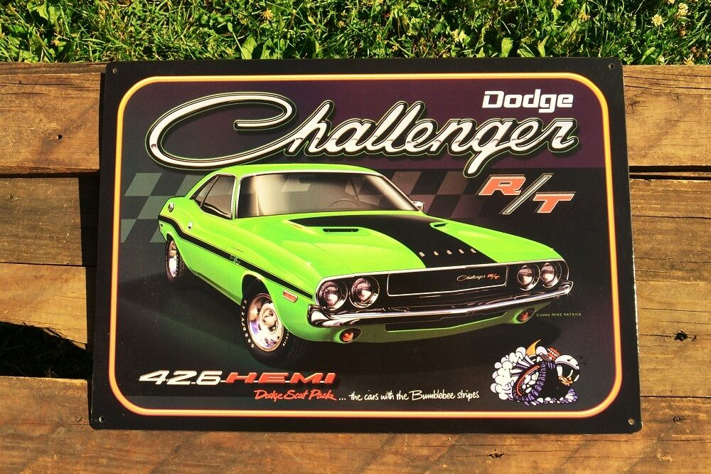 Dodge Challenger R/T Tin Metal Sign - 426 Hemi - Scat Pack ...