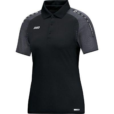 Acquista A Buon Mercato Jako Maglia Polo Calcio Champ Donna Polo Camicia Donne Nero Grigio Scuro- Delizie Amate Da Tutti