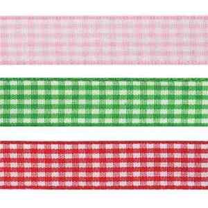 Fiable Gingham Polyester 20mm X 4m Ruban Craft Célébration Couleur Multi-afficher Le Titre D'origine Artisanat Exquis;