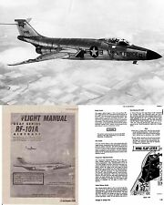 McDonnell F-101 Voodoo Jet Manuals 1960's rare detail period archives Vietnam