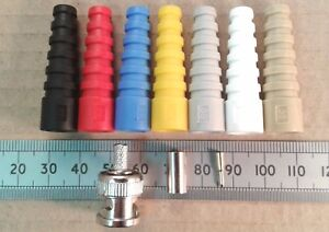 BNC-Male-Crimp-Connector-and-Strain-Relief-in-Various-Colours