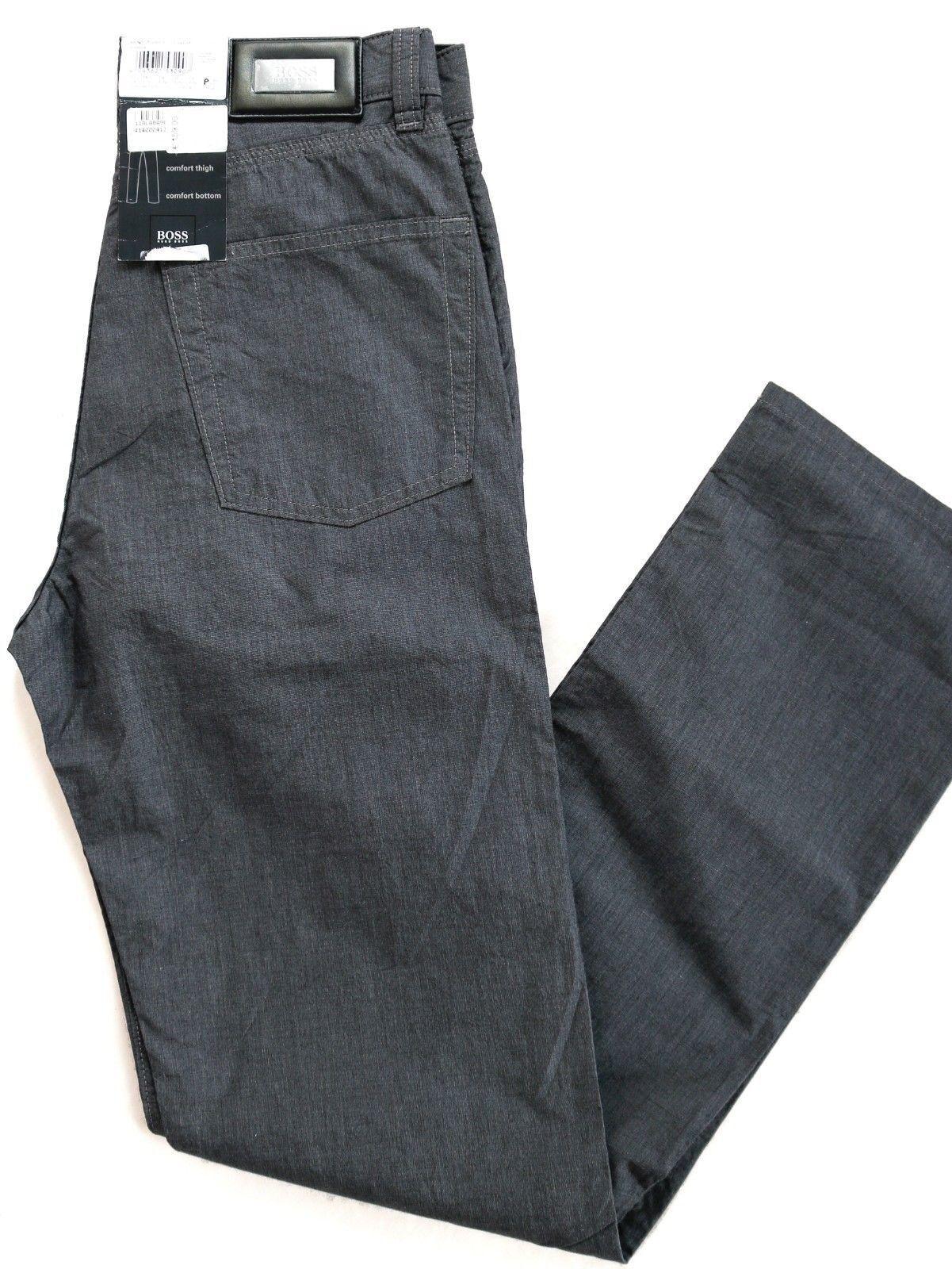 Hugo Boss - Men's Cloth Trousers - Comfort Fit - High Waist - W28 W29 - Grey