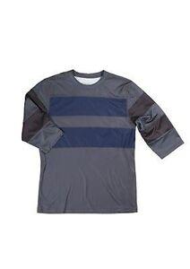 Sombrio-Realto-Men-039-s-Mountain-Bike-Jersey-3-4-Sleeve-Blue-Grey-Size-Small-New