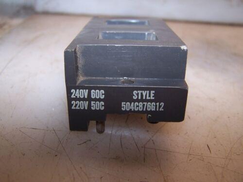 NEW WESTINGHOUSE 240 VAC 60 Hz MOTOR STARTER COIL 504C876G12