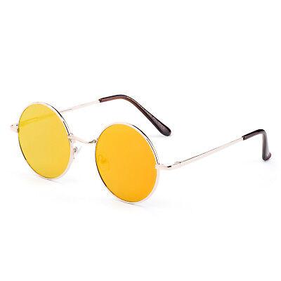 Classic Round John Lennon Sunglasses Men Women Flash Mirrored Lens Eyewear UV400