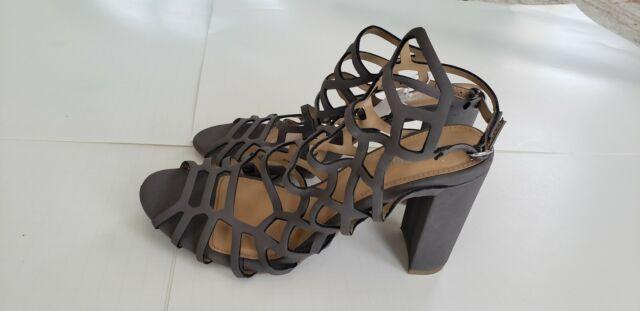 Women S Brash For Payless Shoes Knox Block Heel Sandal Grey Size 11 For Sale Online Ebay