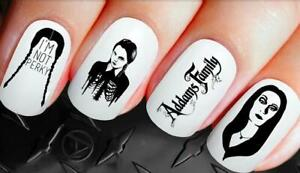 Gothic-Nail-Decals-Wednesday-Addams-Nail-Art-Wraps-Water-Transfers-Nails-269