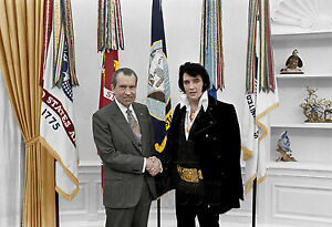 Elvis-Presley-Richard-Nixon-The-King-of-Rock-and-Roll-President-color-photo