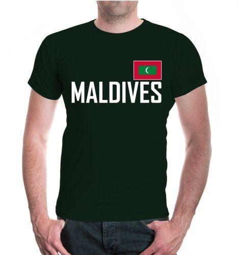 Hommes unisexe manches courtes T-shirt Maldives Maldives Vacances Voyage Travel îles