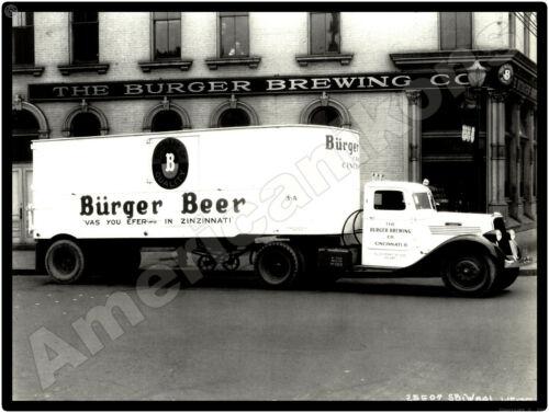 Burger Beer Truck in Cincinnati Studebaker Truck New Metal Sign Ohio