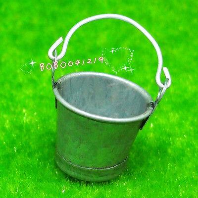 Dollhouse Miniature Kitchen Garden small Metal Tin bucket H3.6cm F9009