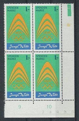 Ddr Spendenmarke Mi.nr. I Or Eckrand-4er-block U.r. ** Mi 72.- + Er A5640 Mild And Mellow