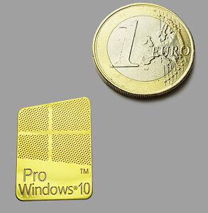Details About Windows 10 Pro Metalissed Gold Effect Sticker Logo Aufkleber 16x23mm 635