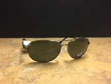 "2559d02c1d Caribbean Sun Polarized Aviator Sunglasses ""St Maartin"" Glass Lenses 64-14 -135"