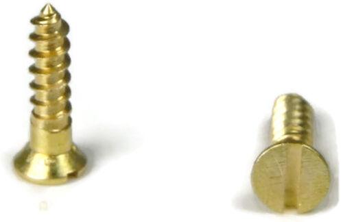 """#6 x 2/"""" Qty 1000 Brass Slotted Flat Head Wood Screw"""