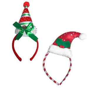 db200ba15 Details about Christmas HEADBAND Elf Santa CHRISTMAS Sequin Party fancy  dress