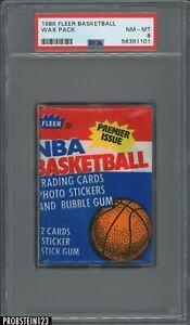 1986 Fleer Basketball Sealed Unopened Wax Pack PSA 8 NM-MT Michael Jordan RC Yr