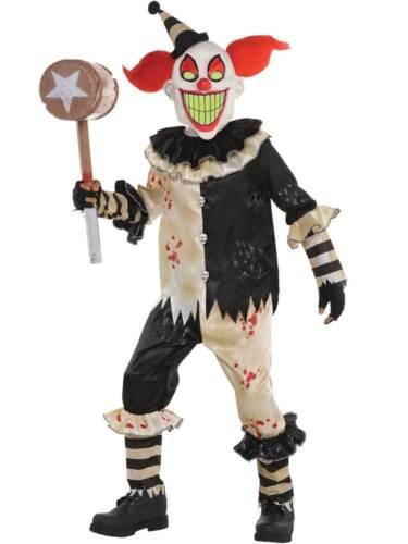 Ragazzi Clown Horror Costume Bambino Halloween CARNEVALE Nightmare Costume Spaventoso